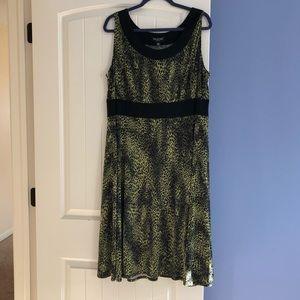 Perceptions Women's Size 20W Dress Green & Black.